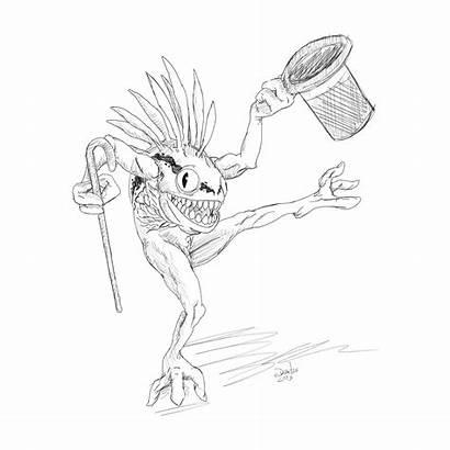 Warcraft Murloc Sketch Dibujos Colouring Azar Michigan