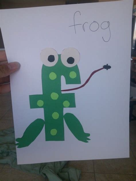craft for the letter f then after we watched leap frog