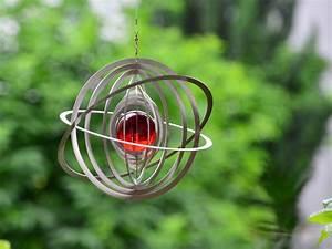 edelstahl windspiel mit glaskugel With französischer balkon mit windspiele aus edelstahl für den garten