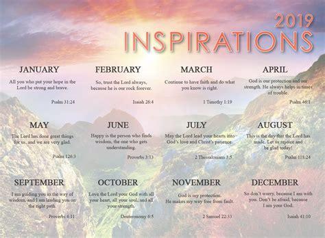 2019 Inspirations Promotional Wall Calendar