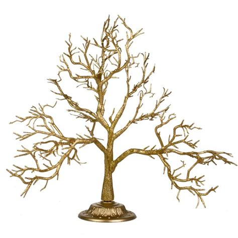 glittered gold branch twig tree 55cm decorations for