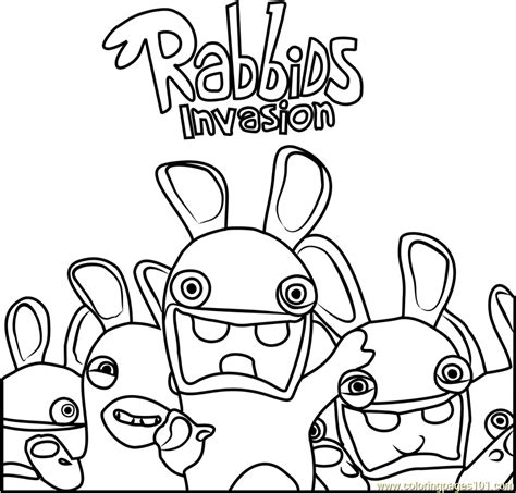 rabbids invasion coloring page  rabbids invasion coloring pages coloringpagescom