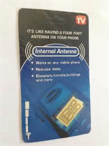 4pcs. Internal Cell Phone Antenna Signal Reception Booster. As Seen on TV, Gold