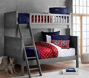 charlie twin over full bunk bed pottery barn kids With charlie bed pottery barn