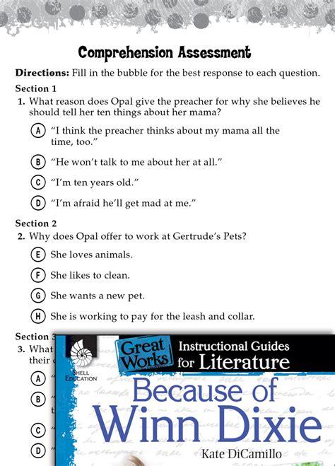 winn dixie comprehension assessment teachers