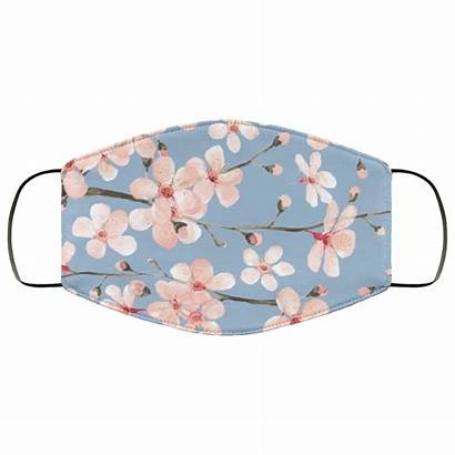 Blush Cherry Face Watercolor Mask Blossom Slate