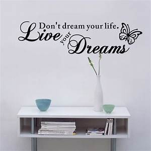 Quote wall stickers for bedrooms : Bedroom wall stickers quotes motivation quotesgram