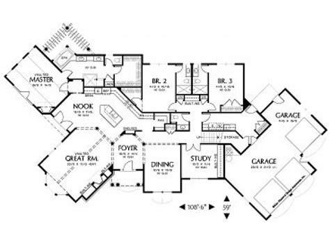 house floor plans  angled garage house floor plans  furniture unusual floor plans