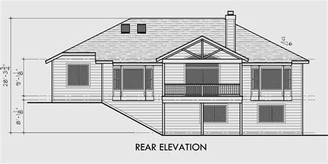 story house plans daylight basement house plans side garage