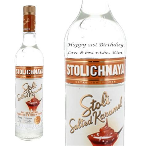 Reduce heat, and add the pinnacle salted caramel vodka. Personalised Stolichnaya Salted Caramel Vodka 70cl | Buy ...