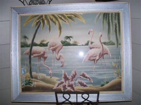 turner flamingo print  original frame flamingos