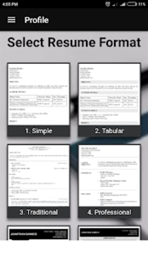 Free Auto Resume Maker by Smart Resume Builder Cv Free For Android