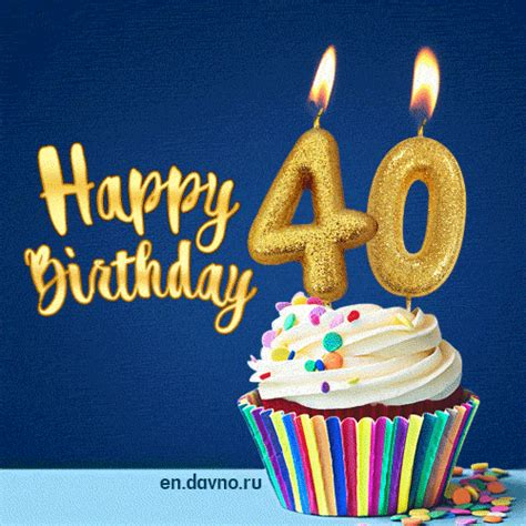 Birthday Card Image 2 by Happy Birthday 40 Years Animated Card On