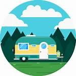 Rv Caravan Camping Icon Clipart Recreational Vehicle