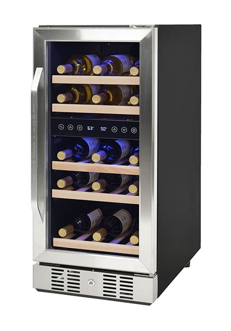 refrigerator  built  wine cooler decor ideasdecor
