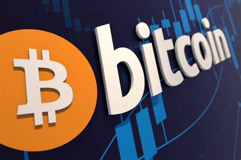 Bitcoin in2020 to the moon. Bitcoin wall logo with stock price chart   Bitcoin logo on ...