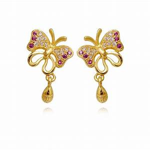 Gold Earrings Designs For Daily Use | Diamondstud