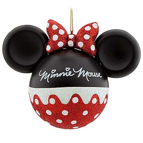 your wdw store disney christmas ornament mickey ears large minnie mouse