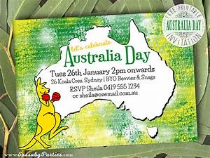 Free Editable Christmas Party Invitations Australia Day Invitation Free Printable The Sassaby