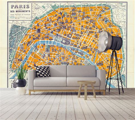 decoration murale pour cuisine papier peint et posters grand format de cartes du monde