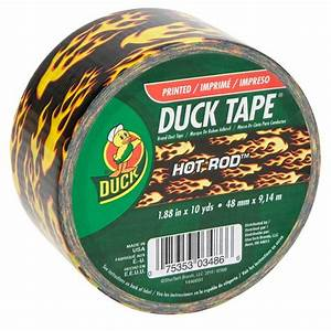 Duck 1 88 in x 10 yds All Purpose Duct Tape Flame Print