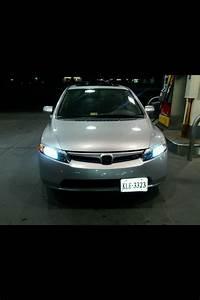2007 Honda Civic Si Sedan Silver Black Wheels