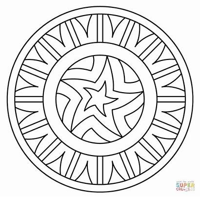 Mandala Coloring Pages Pattern Star Mandalas Cool