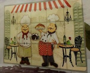 fat chef backsplash sticker wall decal    kitchen