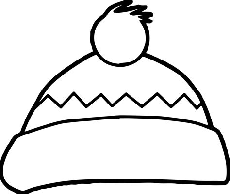 winter hat coloring page wecoloringpagecom