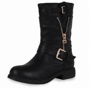 Coole Kostüme Damen : coole damen biker boots stiefeletten outdoor schuhe 98226 gr 36 41 new look ebay ~ Frokenaadalensverden.com Haus und Dekorationen