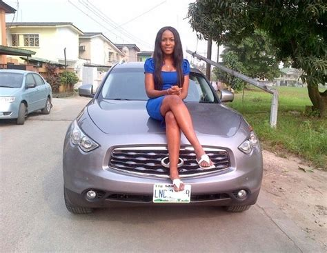 linda ikeji buys  million infinity fx  suv