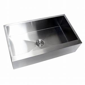 36 inch stainless steel single bowl flat front farm apron With 33x22 farmhouse sink