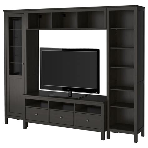 Black TV stand or TV stand with hutch also tall TV stand