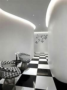 Design Chic Ou Un Salon Noir Et Blanc Unique