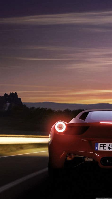 ferrari  italia red  highway iphone   hd