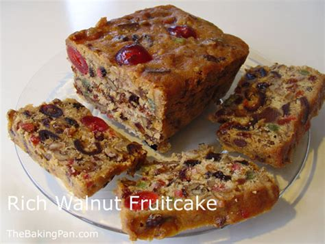rich walnut fruitcake recipe thebakingpancom
