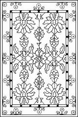 Rug Coloring Carpet Prayer Pages Colouring Islamic Persian Mats Islam Mat American Flowers Template Carpets Pattern Mohawk Muslim Printable Native sketch template