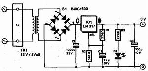 Simple 3v Power Supply Circuit Diagram For Portable Radios