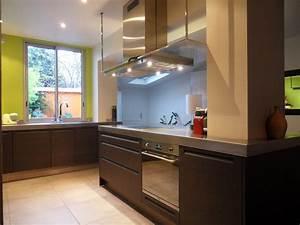 une cuisine aux contraintes maitrisees inspiration With cuisine avec poteau au milieu