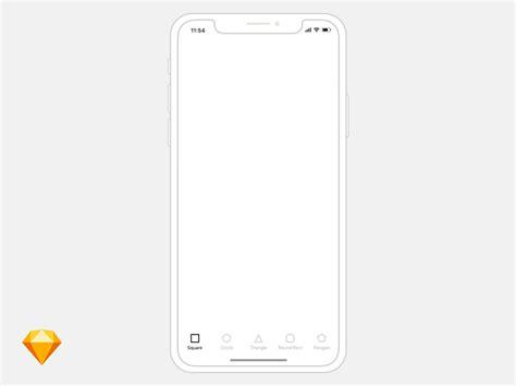 free iphone x wireframe template bestmockup