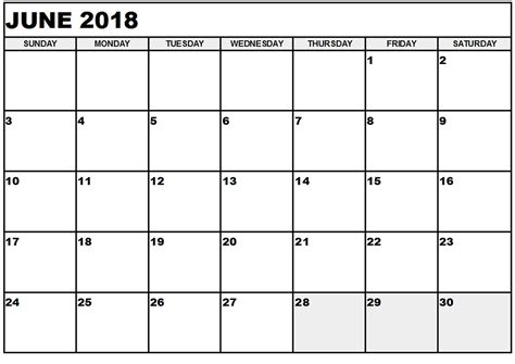 june  calendar template yearly printable calendar