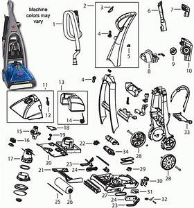 Bissell 7350 Prodry Carpet Cleaner Parts With Regard To Hoover Carpet Cleaner Parts Diagram