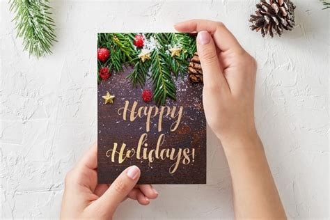 Holiday Card Etiquette In The Business World Minimal Business Card Layout Templates Vistaprint Leather Luggage Tag Printing Hsr Laminating Pouches Walmart Best For Lawyer Sewing Kit Material Types