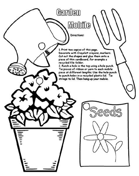 garden mobile coloring page crayolacom