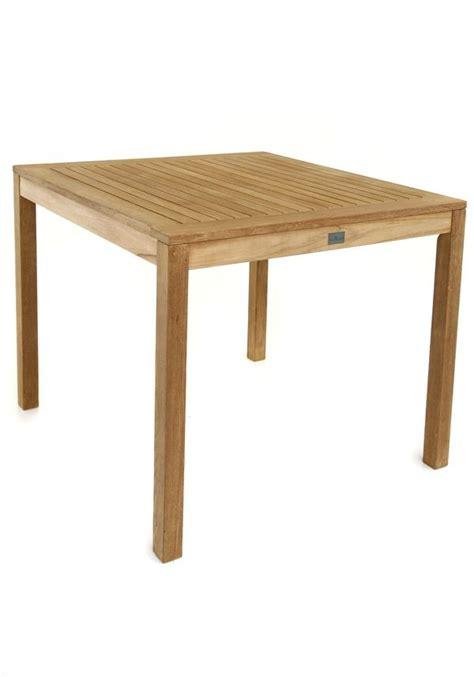 table de jardin carr 233 e en teck massif pour le repas au jardin calida la galerie du teck