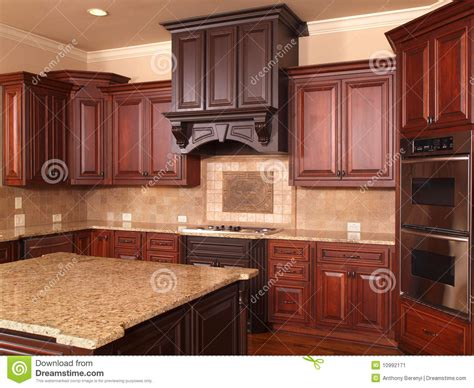 luxury home kitchen center island stock image image