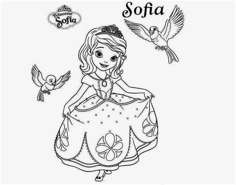 Sofia the First Coloring Pages Printable