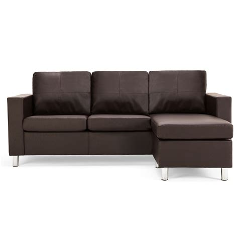 Zara Reversible Faux Leather Corner Chaise Sofa  Next Day