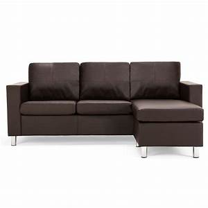Zara reversible faux leather corner chaise sofa next day for Buchannan faux leather sectional sofa with reversible chaise