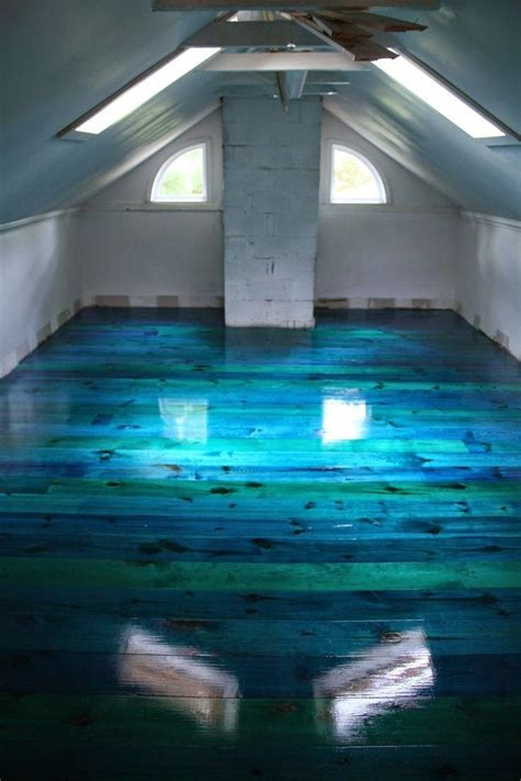 blue green stained concrete floors images